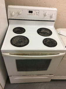 """WHIRLPOOL USED 30"""" electric coil stove range oven fully working"""