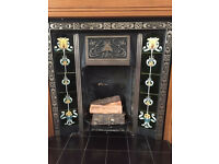 Wooden Fire Surround & Cast Iron Fireplace
