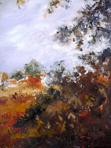 "Original Oil by Jean Johnson ""Across The Fields"" Listed Artist Stratford Kitchener Area image 4"