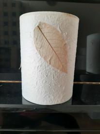 Bhs Handmade Leaf Paper Ceiling Lampshade Cream