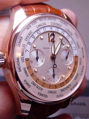 Girard Perregaux WWTC Rose Gold 43mm 99.99% LNIB PRISTINE HUGE Discount Chrono