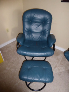 Leather Recliner chairs with foot stools