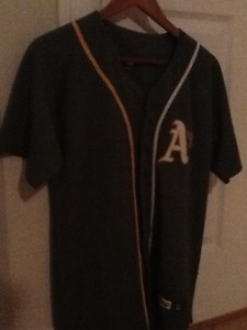 Oakland Athletics button up jersey embroidered and number
