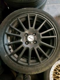 4 Black Fox alloy wheels rim Vauxhall Corsa C D