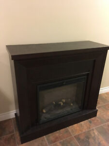 Dark Wood Mantle Electric Fireplace