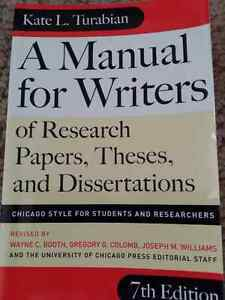 A MANUAL FOR WRITERS BY  KATE L. TURABIAN
