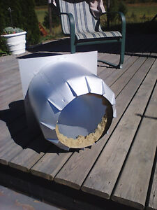 """Inslated attic pipe shield for woodstove 8"""""""