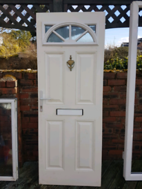Upvc coated door with keys