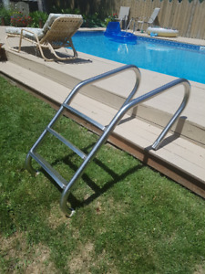 3 Step Stainless Steel Inground Pool Ladder