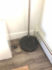 BLACK MARBLE FLOOR LAMP