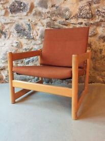 Single orange seat