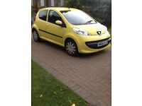 Pug 107 only 20 pound a year road tax low miles