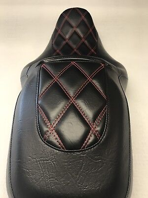 Harley Street Glide / Road Glide Double Cross Stitch Seat Cover 2011-17 Models