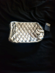 Silver Makeup Bag by FOREVER21