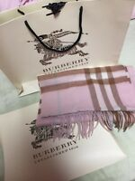 100%Authentic brand new burberry pink cashmere scarf