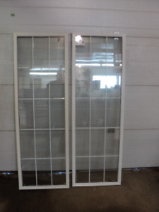 """2 French Door Inserts fit 20 5/8 x 64 5/8 x 1 3/4"""" Openings"""