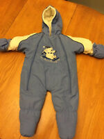 Baby boy snowsuit - size 6-9 months