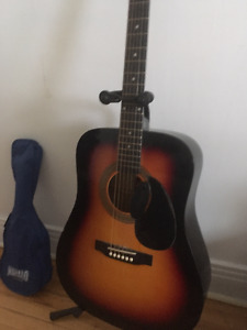 Acoustic Sunburst guitar