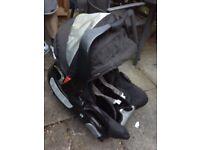 Graco black car seat & base
