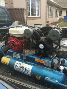 Compresseur Commercial avec moteur honda 8 gallons