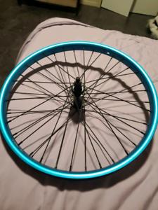 Front metallic blue salt bmx rim for sale
