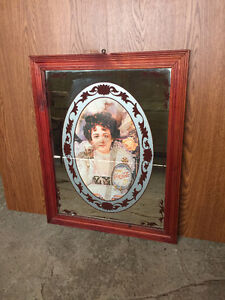 Coca Cola Picture with Solid Wood Frame