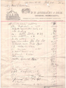 Business Invoices and Letters pre 1950