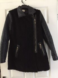 Size 10 leather & fur jacket