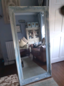 Ornate floor/wall mirror