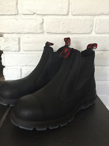 Men's Redback Steel-toed black boots