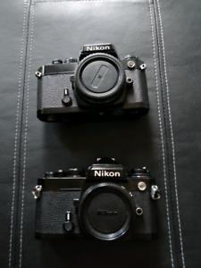 Nikon FE 35mm slr film camera bodies