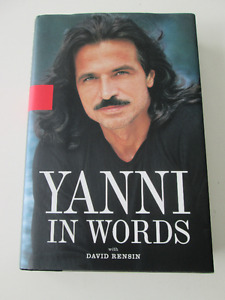 Autographed Hardcover Book Yanni In Words
