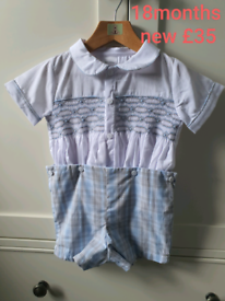 Boys smocked suit 18months