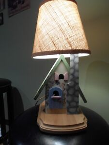 Hand Made/Tole Painted Little House Bedroom Light