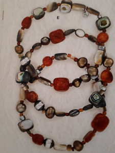 Silpada Set of Three Bracelets in SS, Coral, Pearl & Shell