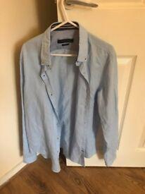 Blue shirt Zara size M