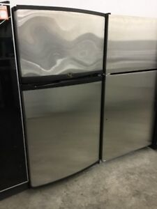 "30"" Whirlpool Gold Stainless Steel Fridge"