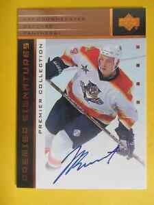Jay Bouwmeester Premier Signatures autographed hockey card