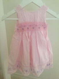 Baby girls (3-6month) summer dress with matching pants. Brand new!