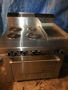 """Garland 36"""" Commercial Electric Range with 12"""" Griddle"""