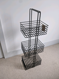 Embla 3 Tier Metal Freestanding Storage Caddy, Black from MADE