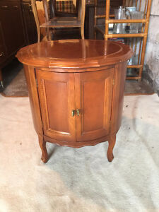 Solid Wood Round Side Table