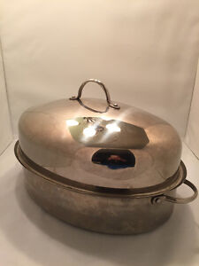 Stainless steel turkey roasting dish