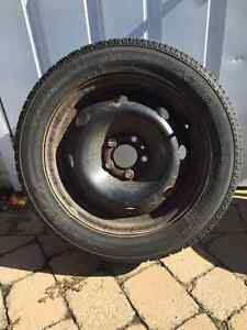 4 Winter tires with rims /Tire tread 7/32