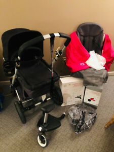 Bugaboo Cameleon Stroller Complete in Grey with EXTRAS
