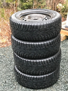 225 60 R16 Studded General Altimax Winter tires and rims