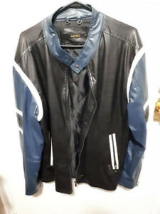 Nice faux  leather mens coat