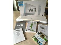 Nintendo Wii console + balance board