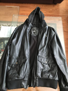 Pre-Owned Obey Faux Leather Jacket