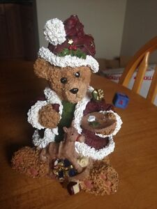 For Sale: Wooden Christmas Bear Statue
